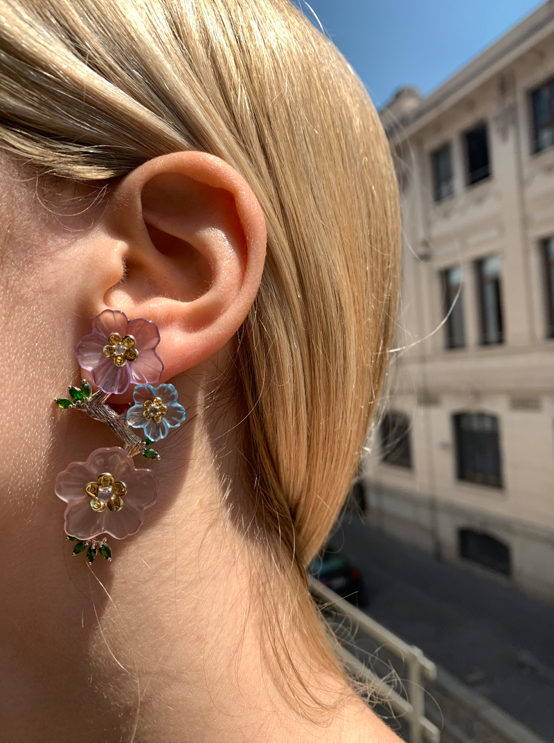 Currency Flower Earrings