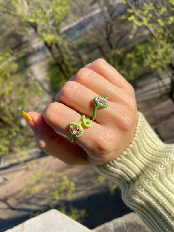 Can you Dig it? Yeah, Baby! Green Stacking Rings
