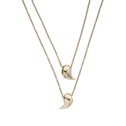 Heliconia Double Chain Yellow Gold Necklace