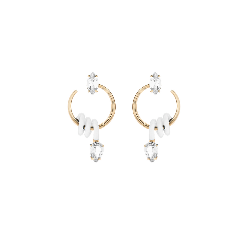 Small Single Curl Vine Earrings