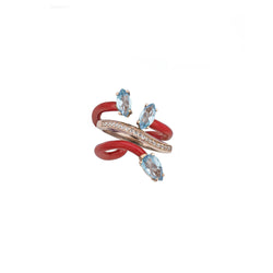 Composable Vine Ring with Diamonds