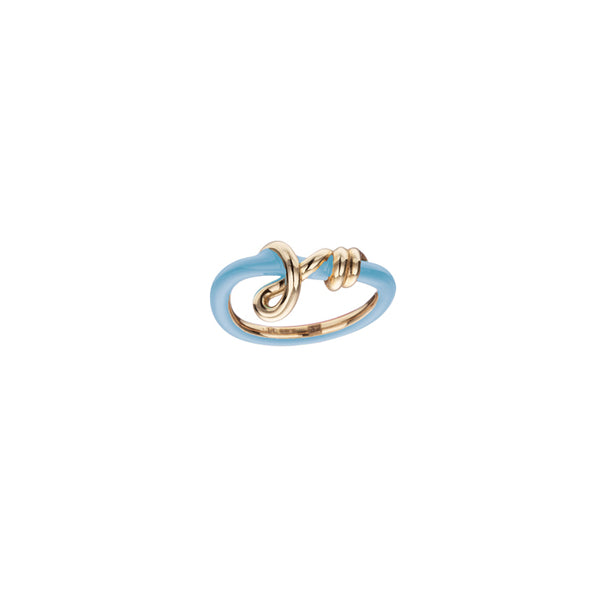 Baby Vine Curl Ring in Baby Blue