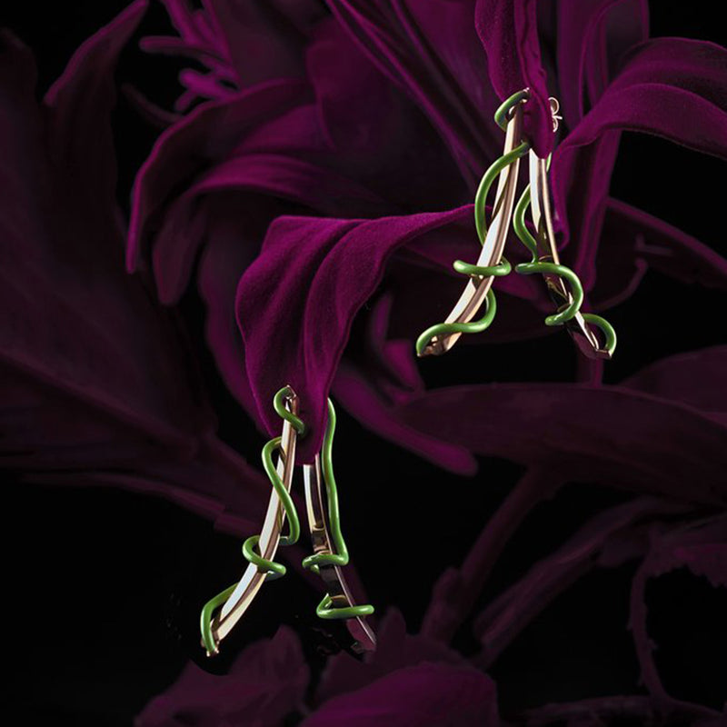 Double Trouble Vine Earrings
