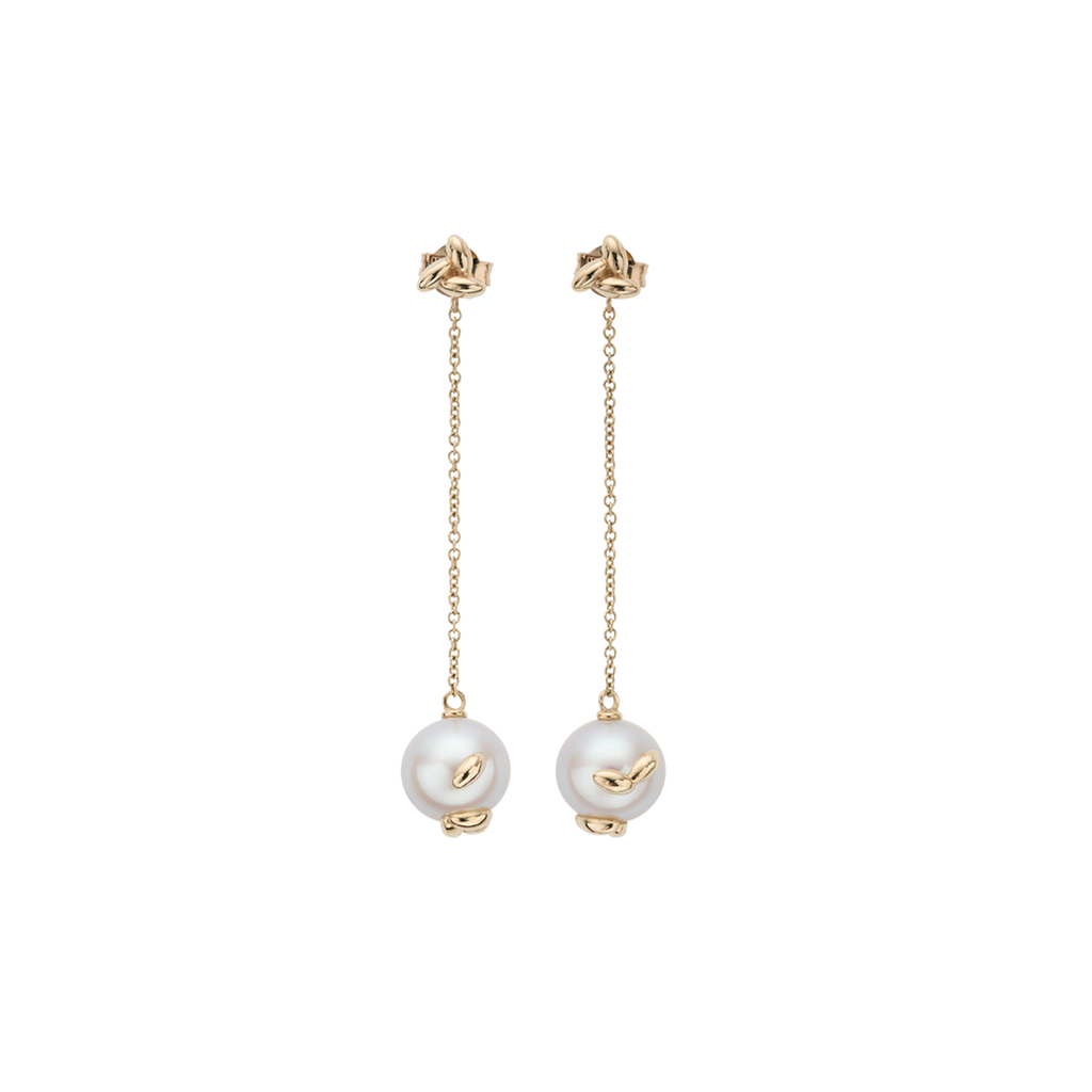 Pearl Rice Chain Earrings