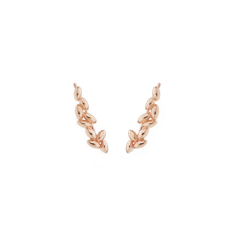 Rose Gold Rice Grain Earrings