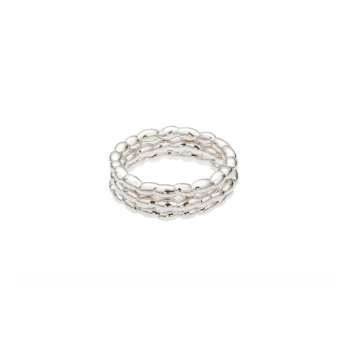 Silver Stackable Rice Ring