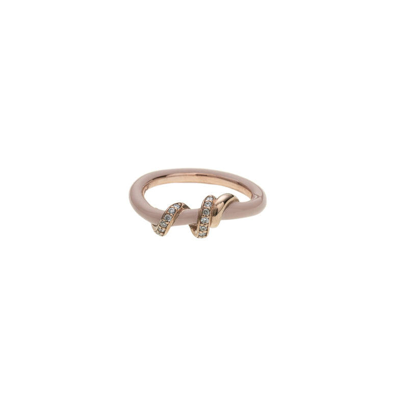 Diamond Pavé Baby Vine Wrapped Ring