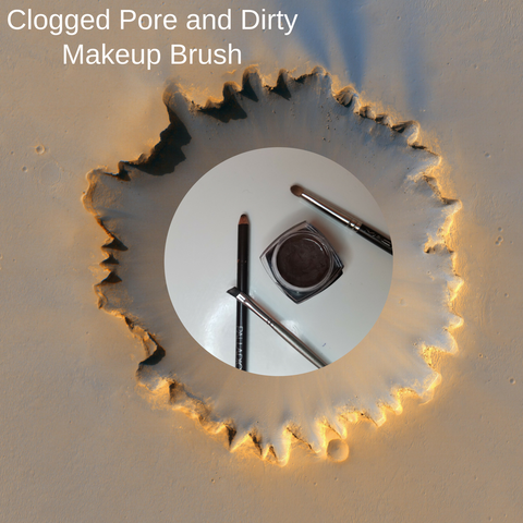 The Clogged Pore and Dirty Makeup Brush