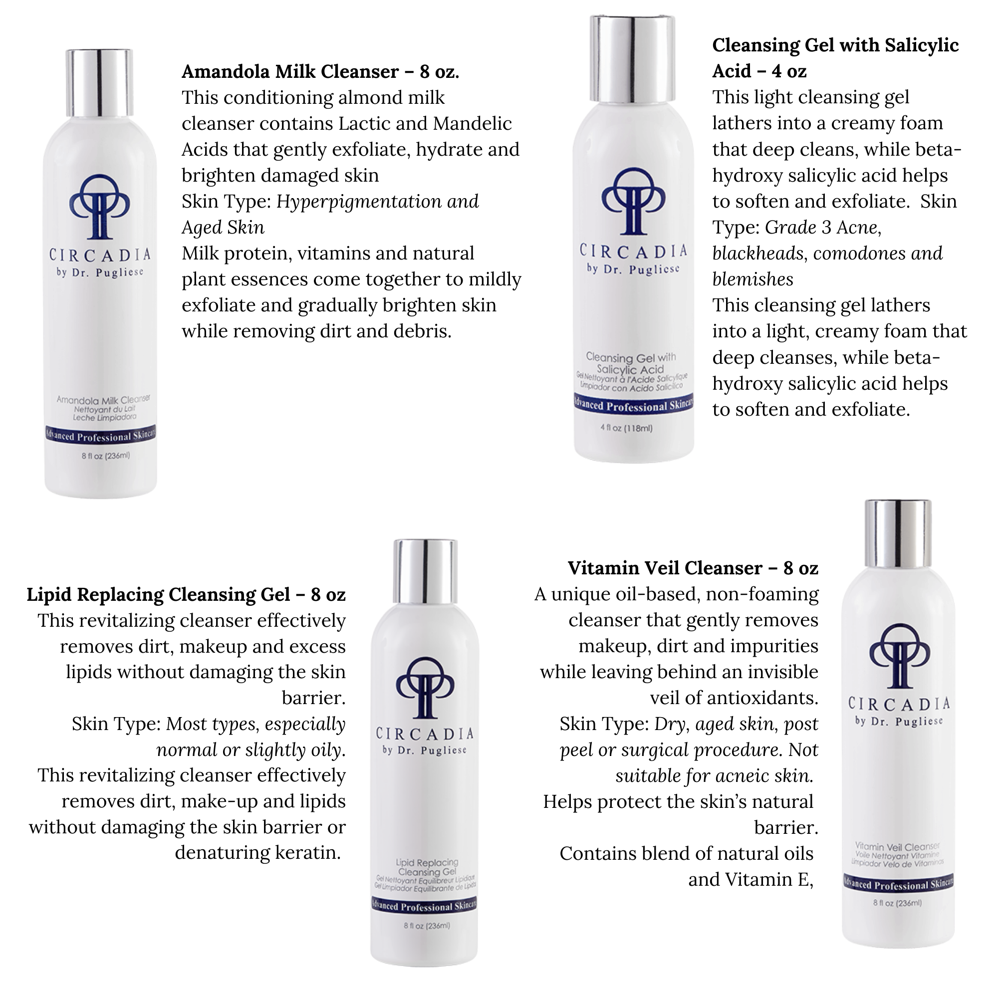 A Younger You Skin Care Circadia Cleansers