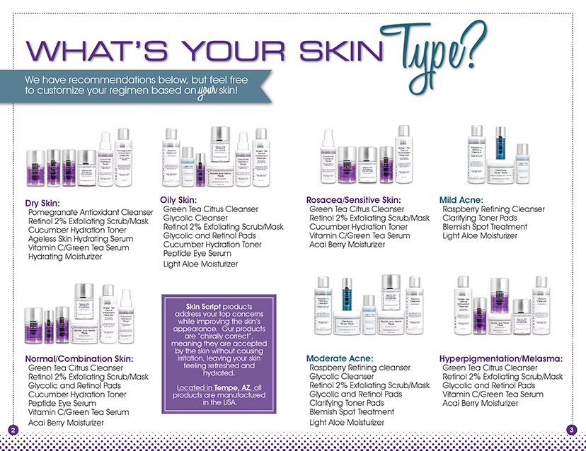 skinscript what's your skin type