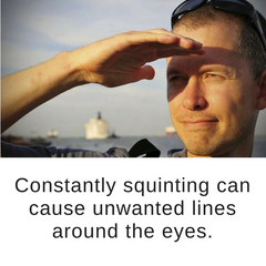 constant squinting can cause crows feet