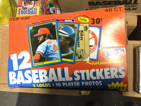 1983 Fleer baseball stickers 48 packs box