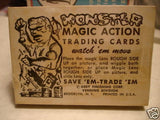Monster Magic rare complete card set 1962