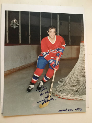 Guy LaFleur Montreal Canadiens hockey legend signed photo 1992 with COA