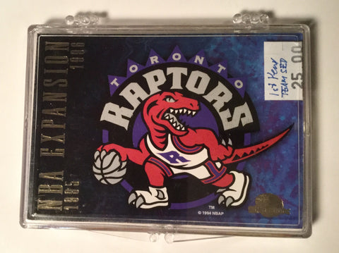 Toronto Raptors skybox Rare first year cards team set 1995