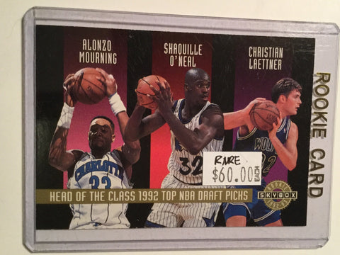 Shaq and more rookie class NBA redemption card 1992