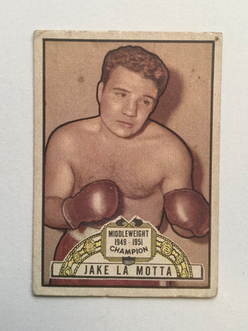 Boxing legend Jake Lamotta Rare Topps Ringside box card 1951