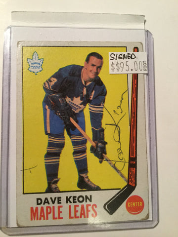 Dave Keon Toronto Maple Leafs Rare Signed Card w/COA
