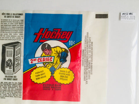 1973 O-Pee-Chee rare hockey card wrapper