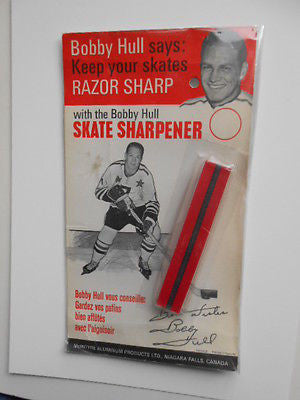 Bobby Hull hockey Skate Sharpner pack 1970