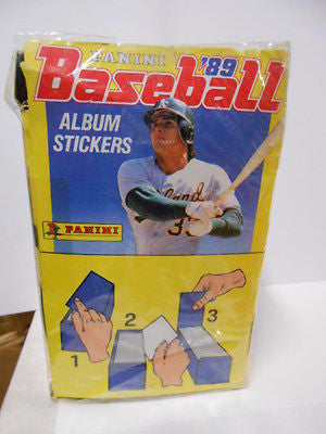 Baseball Panini rare full factory sealed 100 packs box from 1989