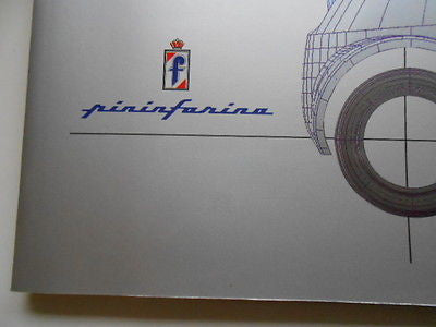 Ferrari Pininfarina car rare limited issued press kit with photo slides