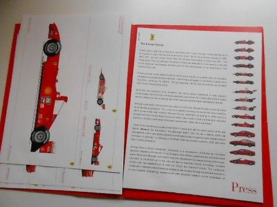 Ferrari cars rare limited issued press kit 2000