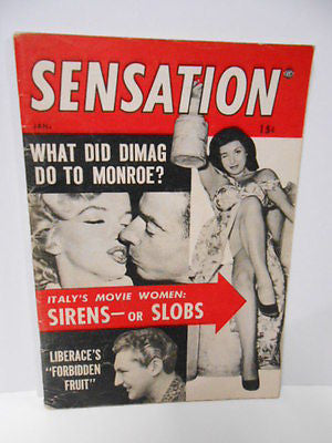 Marilyn Munroe Sensation small rare movie magazine 1950s
