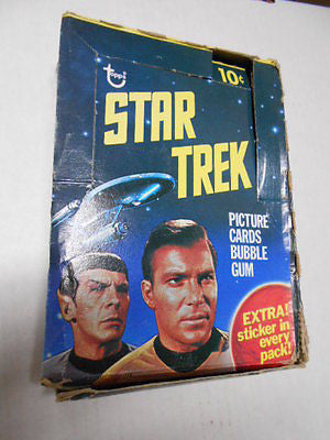 Star Trek original series empty display box 1976