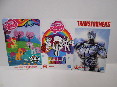 Transformers/ My Little Pony limited issued Target card set