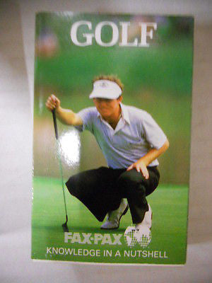 Golf Fax- Pax rare card set 1990s