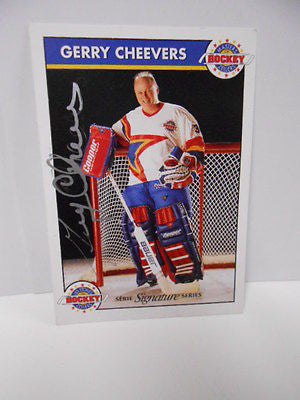 Gerry Cheevers Zellers signed insert card
