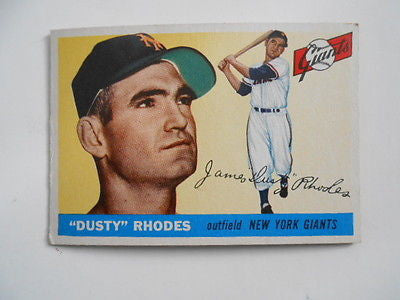 1955 Topps Baseball Dusty Rhodes #1 first card