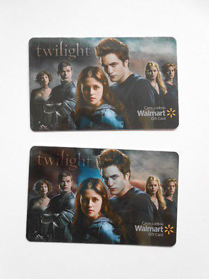 Twilight first movie rare foil 2 Canadian issued gift cards