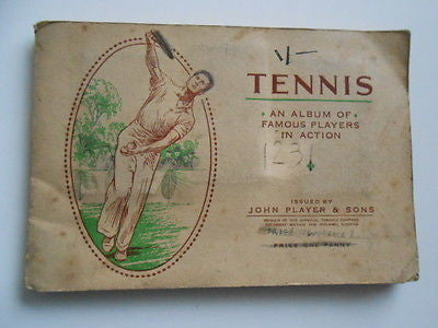 Tennis rare tobacco card set in album 1930s