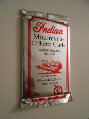Indian Motorcycle cards rare sealed foil pack 1990