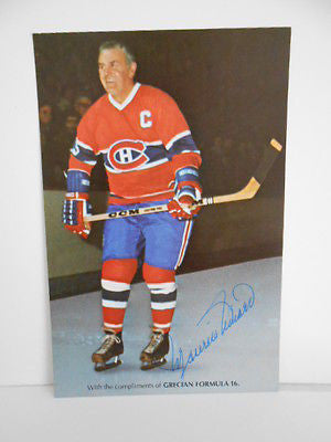Maurice Richard NHL Hockey rare signed in person 4x6 postcard sold with COA