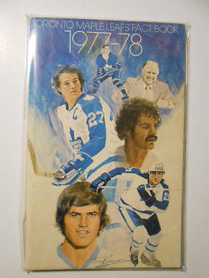 Toronto Maple Leafs hockey vintage all intact fact book 1977-78