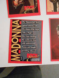 Elvis, Madonna rare 4 uncut cards sheet set 1990s