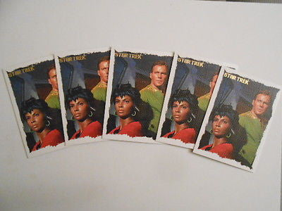 Star Trek Original Preview Rare Five fabric cards deal