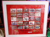 Indian Motorcycle series 2 numbered uncut card sheet 1990