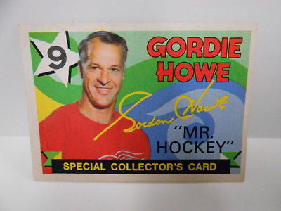 Gordie Howe NHL OPC hockey card 1970