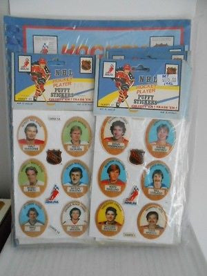 NHL Hockey Puffy Stickers / Album rare complete set 1982
