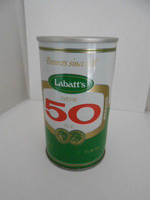 Labatts 50 brand Beer rare empty beer can 1960s