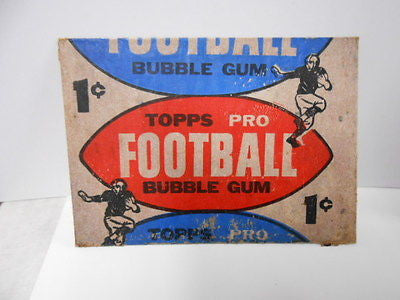 NFL Football rare 1 cent card wrapper from 1957