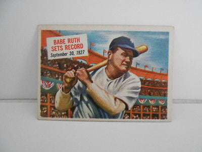 Babe Ruth rare Scoops ex condition baseball card 1952