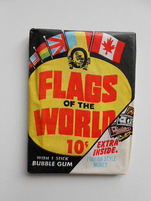 Flags of the World cards rare sealed vintage OPC pack 1970s