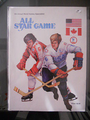 All-Star vintage hockey game program 1975