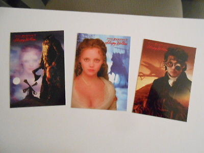 Sleepy Hollow movie rare 3 cards preview set