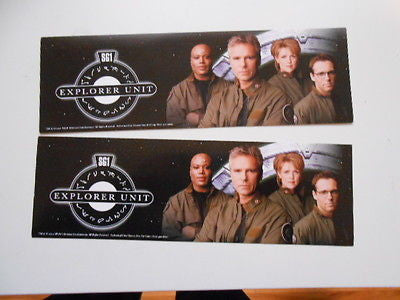 Stargate SGC 2  limited issued bumper stickers
